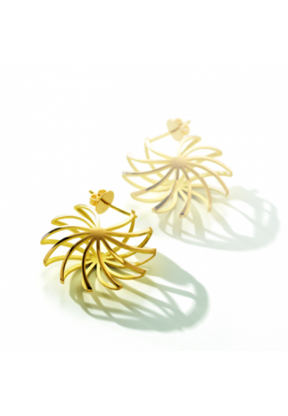 Pirouette-Ohrring links,18 Karat Gold,14 mm