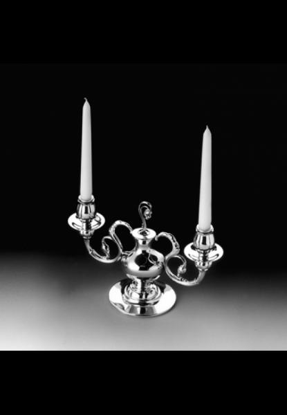2-lichtiger Kerzenhalter Alt-Kopenhagen in Sterling-Silber von Robbe & Berking-Copy