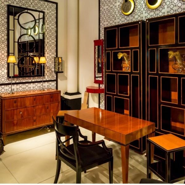 Schreibtisch Leonardo, Kirschholz, mit 3 Schubladen