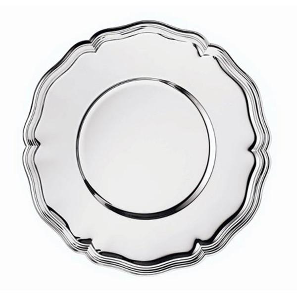 Platzteller Chippendale in versilbert, Durchmesser 30 cm