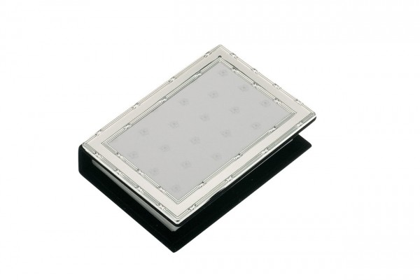 Fotoalbum Kreuzband, versilbert, anlaufgeschützt, 10 x 15 cm für 100 Fotos-