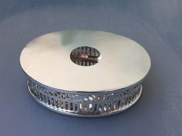 Ovales massives Stövchen, Sterling-Silber, 18,5 cm lang
