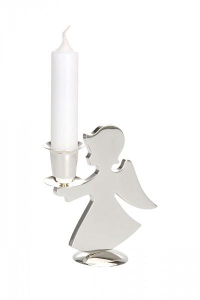 Kerzenhalter Engel, versilbert, Höhe 12,5 cm