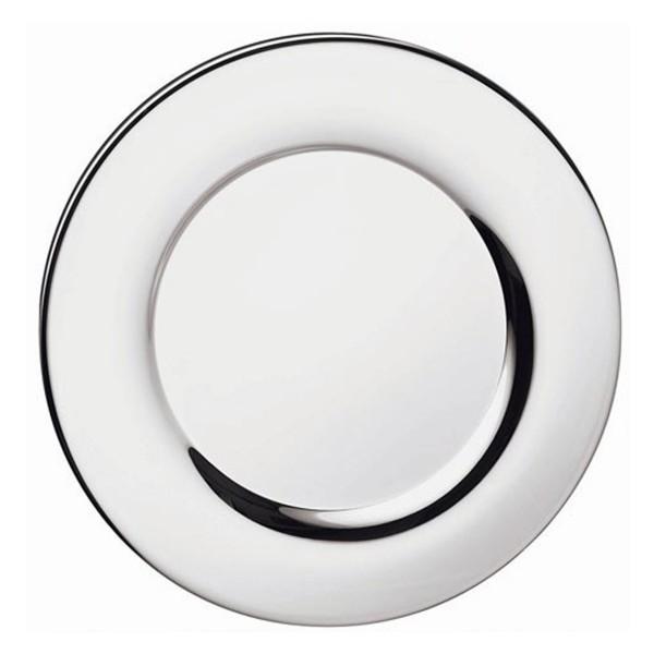Platzteller Silhouette in versilbert, Durchmesser 30 cm