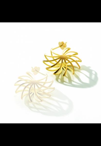 Pirouette-Ohrring rechts,18 Karat Gold,14 mm
