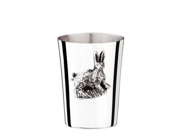 Becher Hase, Sterling Silber, Höhe 4,5 cm