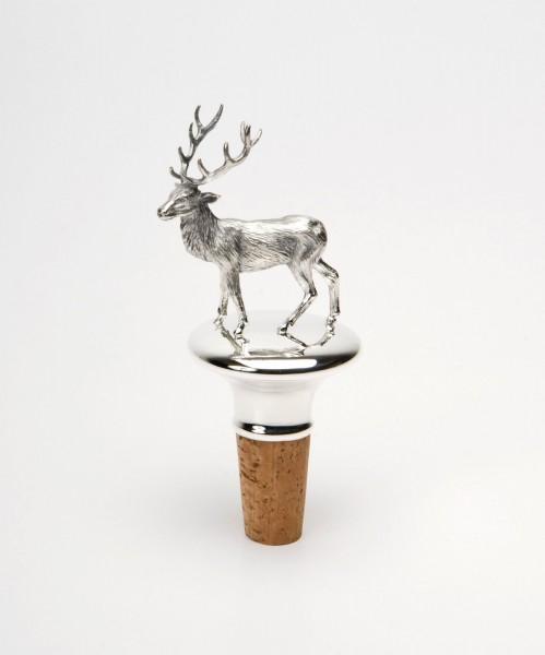 Tierkorken großer Hirsch, Sterling Silber