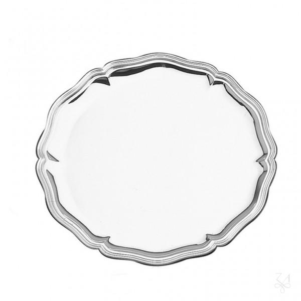 Silbertablett Chippendale, 33 cm, 925 Sterling-Silber-Copy