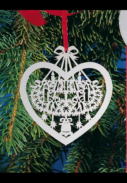Weihnachtsanhänger Adventskranz 90g versilbert