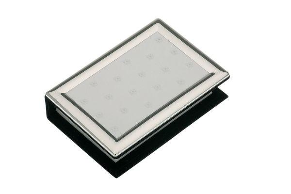 Fotoalbum versilbert, gewölbt, glatt poliert 10 x15 cm