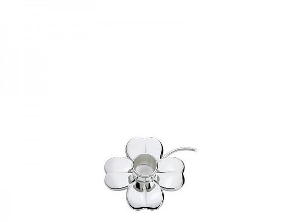 Leuchter Kleeblatt Sterling Silber, Höhe 2,1 cm