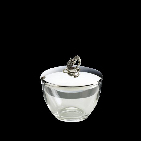 Marmeladendose Himbeere, Kristall, Silber, Ø 9cm